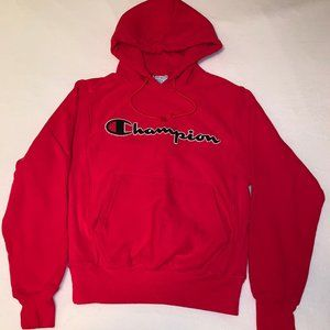 Champion Red Hooded Sweatshirt